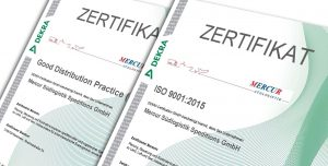 Zertifizierung - ISO 9001:2015 - Good Distribution Practice